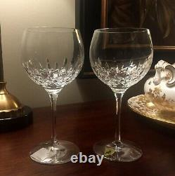 NEW 2 WATERFORD LISMORE ESSENCE Balloon HOCK Wine Glasses