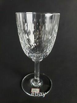 NEW Baccarat Paris Cut Crystal Claret Wine Glass Glasses 6 Vintage Signed