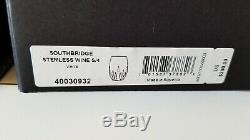NEW Waterford (4) SOUTHBRIDGE Stemless WHITE WINE GLASS Tumbler #40030932 NIB
