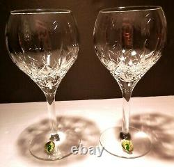 NEW Waterford Crystal LISMORE TRADITIONS (2003-) 2 Water Wine Goblets IRELAND