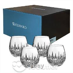 NIB Waterford Crystal Southbridge Stemless Red Wine Whiskey Glass Tumbler 4pc