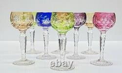 Nachtmann Traube Set of EIGHT Cut-to-Clear 4 1/2 Tall Cordial Glasses Stems