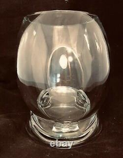 Neiman Marcus Signed LUIGI COLANI Crystal Vase 70s 80s Glass Wine Beer Cooler