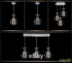 New Crystal Wine glasses Chandelier Ceiling Lights Pendant Lamp LED Lighting