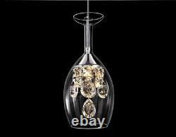 New Modern Crystal Wineglass Chandelier Ceiling Lights Pendant Lamp LED Lighting