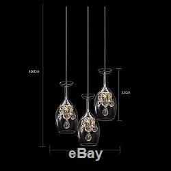 New Modern LED Wine Glass Ceiling Light Pendant Lamp Fixture Chandelier US Stock