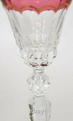 One ST LOUIS CRYSTAL EXCELLENCE RED HOCK GOBLET 10 1/4 Brand New 3 available
