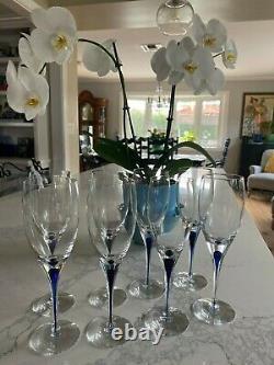 Orrefors Intermezzo Blue Wine Glasses 8 (8oz) avail. (I have 3 Orrefors listings)