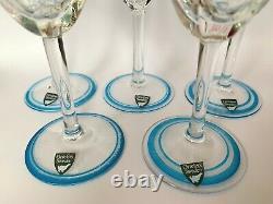 Orrefors Maja Wine Sherry Glass Eva England Set Of 5