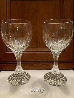 PAIR Baccarat Massena 7 Wine Glasses MINT Condition witho Boxes Never Used