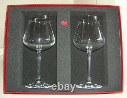 Pair 2 Chateau Baccarat White Wine Tasting Stems Glasses