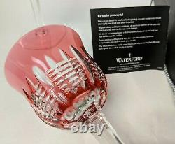 Pair WATERFORD Crystal Simply Pink 8 ¼ Water Goblets New in Box