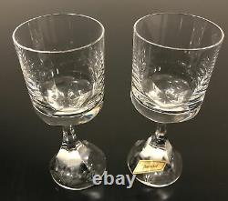 Pair of (2) Baccarat France Narcisse Crystal Wine Glasses Mint