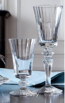 QTY 5 New in Box BACCARAT CRYSTAL CLEAR MILLE NUITS WATER/WINE GOBLET 5 5/8