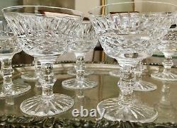 Qty 11, WATERFORD CRYSTAL TRAMORE 4 1/2 TALL CHAMPAGNE / SHERBET COUPES