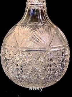 RARE ABP Brilliant Cut Glass GLASS CRYSTAL Wine Decanter Liquor Bottle