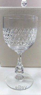 RARE Set of 6 Vintage French BACCARAT Crystal LUCULLUS VERRES Wine Stems IOB