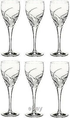 RCR CRYSTAL DA VINCI GROSSETO LARGE WINE GLASSES 32cl (SET OF 6) BRAND NEW