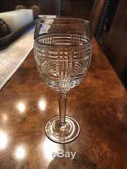 Ralph Lauren Crystal GLEN PLAID 8 1/4 Signed Wine Glass