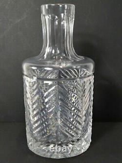 Ralph Lauren Crystal HERRINGBONE Water Wine Wide Mouth Carafe DecanterFREE SHIP