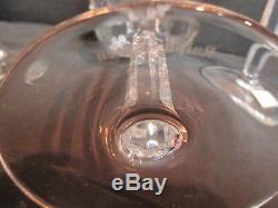 Ralph Lauren Glen Plaid 24% Lead Crystal 4 Wine Goblets 8 1/4 Tall
