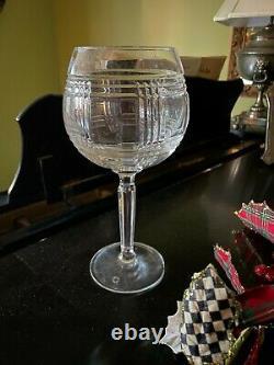 Ralph Lauren Glen Plaid Crystal Wine Glass