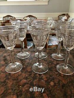Ralph Lauren Glen Plaid Red Wine Glasses (6)