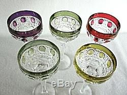 Rare Antique BACCARAT Flawless Crystal 5 x Sherry / Port Wine Large Goblet
