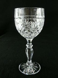 Rare Antique BACCARAT Palmette Crystal Glass Set 6 x Wine Goblet with Great Cut