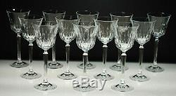 Rare (set Of 12) Vintage Mikasa Park Avenue Pattern Crystal Wine Glasses