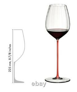 Riedel High Performance Cabernet Wine Glass Long Red Crystal Stem 4994/0R NEW