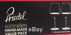 Riedel Mouth-Blown Sommeliers Set Of 2 Bordeaux Grand Cru Crystal Wine Glasses