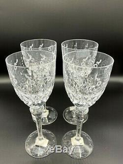 Rogaska Crystal Gallia Water/Wine Tall 9 1/4 Stem Goblets Set of 4! Mint