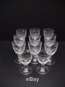 Rosenthal Crystal FLORENTINE Wine Glasses 4 1/4 / Set of 11 /Excellent