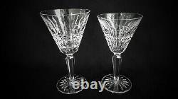 SERVICE FOR 8 WATER & WINE GOBLETS / GLASSES WATERFORD GLENMORE CUT CRYSTAL 16pc