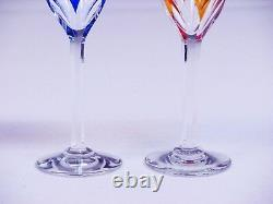 SET OF FOUR BACCARAT CRYSTAL Cut To Clear WINE GLASSES Measures 5 1/4 H