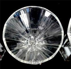SET OF SIX VINTAGE CUT STEM WINE GLASSES 16.8cm ADELA MELIKOFF HARCOURT MOSER