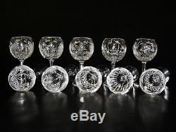 SET OF TEN (10)Waterford Crystal, Lismore Oversize Crystal Wine glass 8 1/8