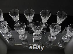 SET of 10 BACCARAT France Crystal BIARRITZ 5 3/4 x 3 WINE GLASS GOBLETS