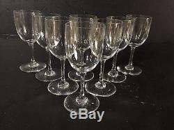 SET of 8 Baccarat Crystal PERFECTION Sherry Glasses Wine stems goblets 4.5