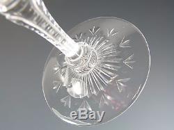 STEVENS & WILLIAMS Crystal Cranberry Fantasy Cut Wine Glass