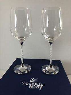 SWAROVSKI # A 9280 2 Crystalline Wine Glasses with Original Box