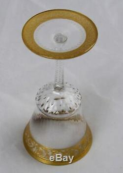 Saint Louis Crystal Gold Thistle Claret Wine Glass 5-5/8 Multiple Available