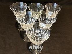 Saint St. Louis Crystal Tommy Burgundy Wine Goblet Glass 6 3/4 H Set of 6 As Is