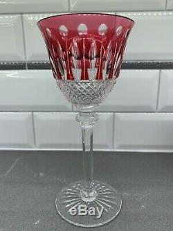 Saint St. Louis Crystal Tommy Red Wine Hock Glass Goblet 7 3/4 H France