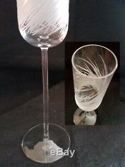 Salviati Crystal Champagne Flutes Assorted Set of 3 10 3/8 tall