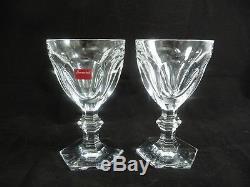 Set/2 Stunning Baccarat Crystal HARCOURT 5 3/8 Claret Bordeaux Wine Glasses
