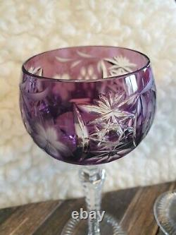 Set 4 VINTAGE NACHTMANN TRAUBE HOCK WINE GLASSES Cut to Clear Crystal
