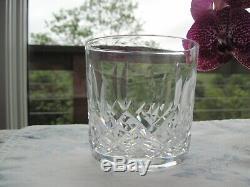 Set 4 WATERFORD Deep Cut Irish Crystal LISMORE Pattern Old Fashioned Tumbler