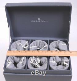 Set (6) STEUBEN #7737 Crystal White Wine Stemware Glasses 6-1/8H in Orig. Box